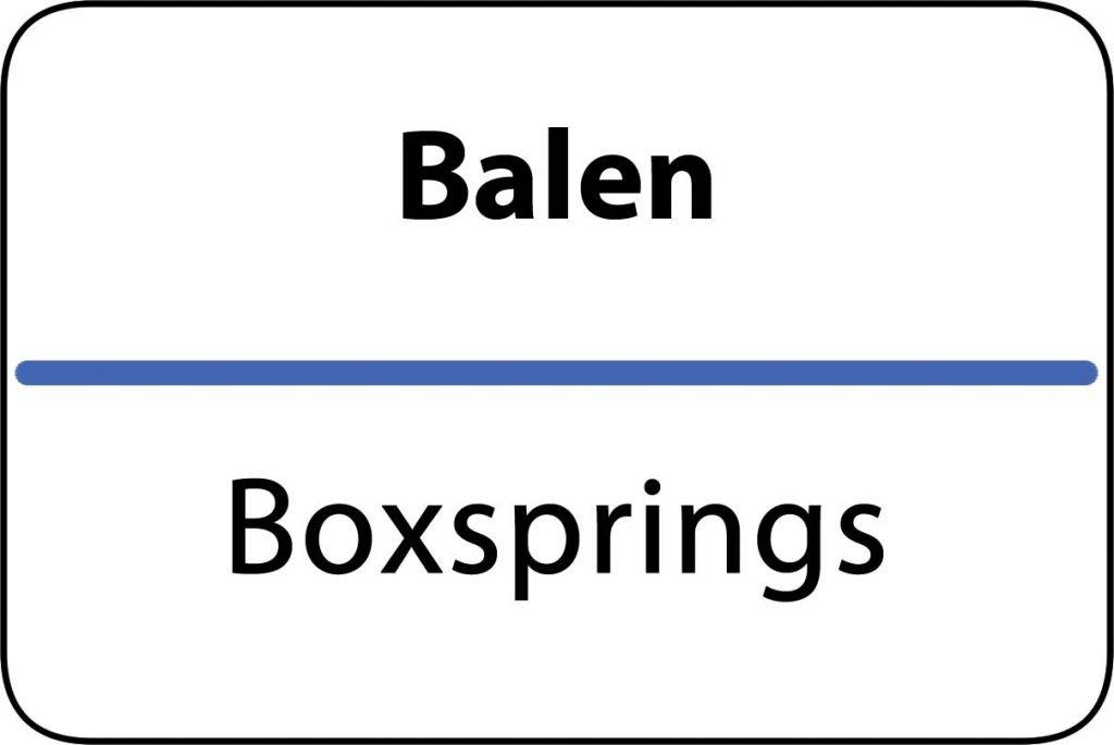 Boxsprings Balen