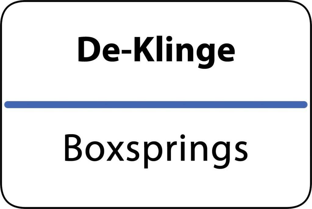 Boxsprings De Klinge