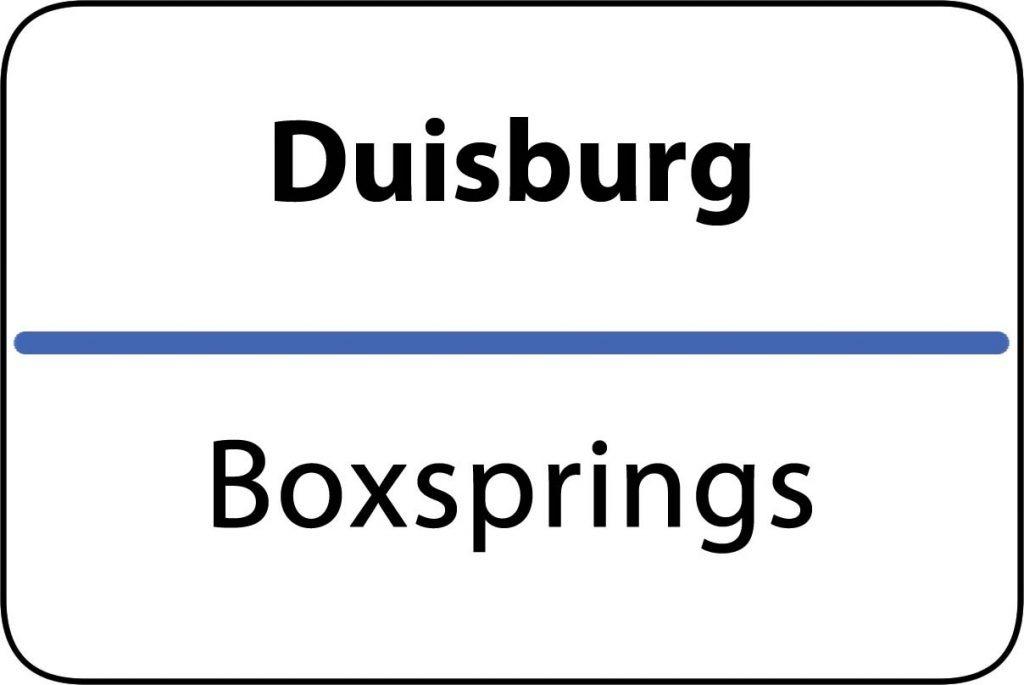 Boxsprings Duisburg