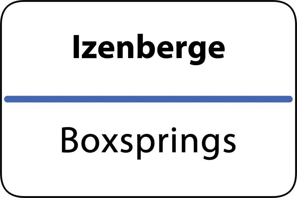 Boxsprings Izenberge