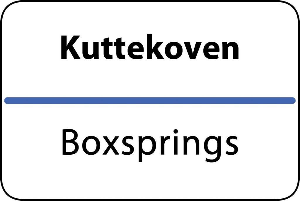 Boxsprings Kuttekoven