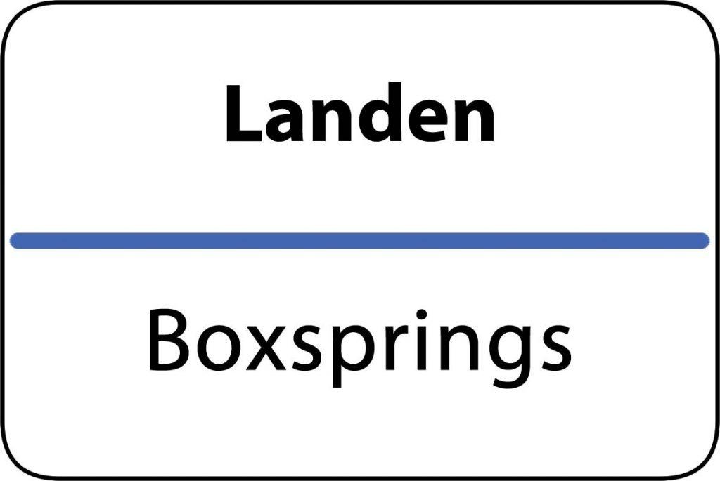 Boxsprings Landen