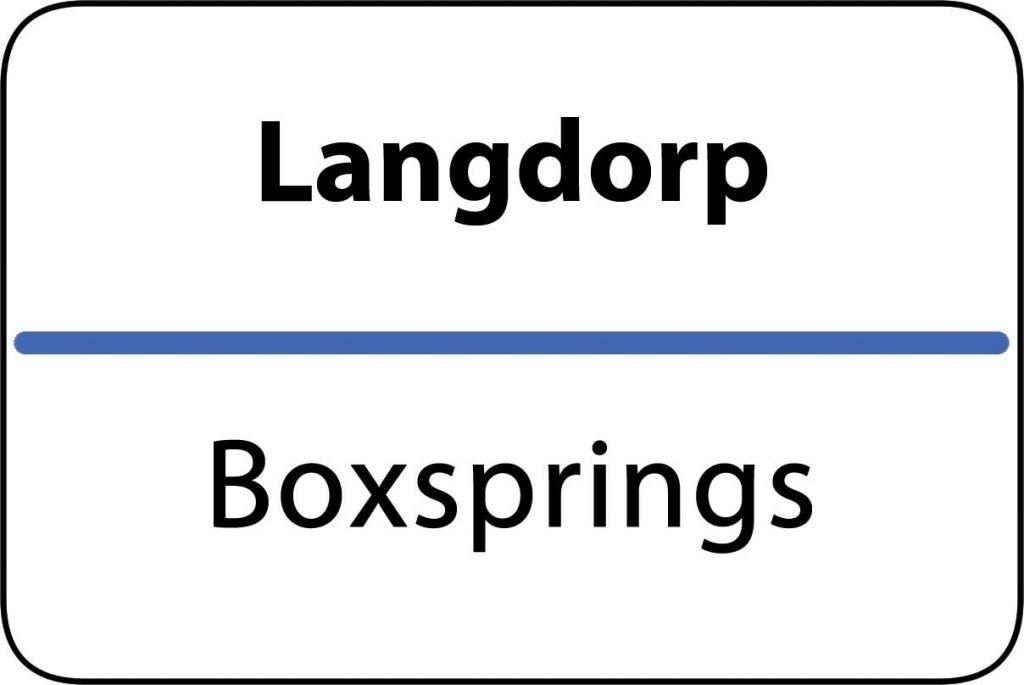 Boxsprings Langdorp