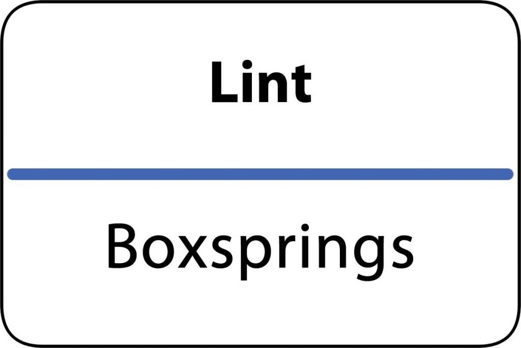 Boxsprings Lint