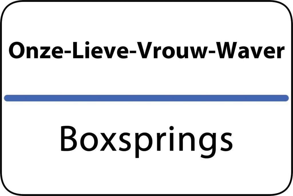 Boxsprings Onze-Lieve-Vrouw-Waver