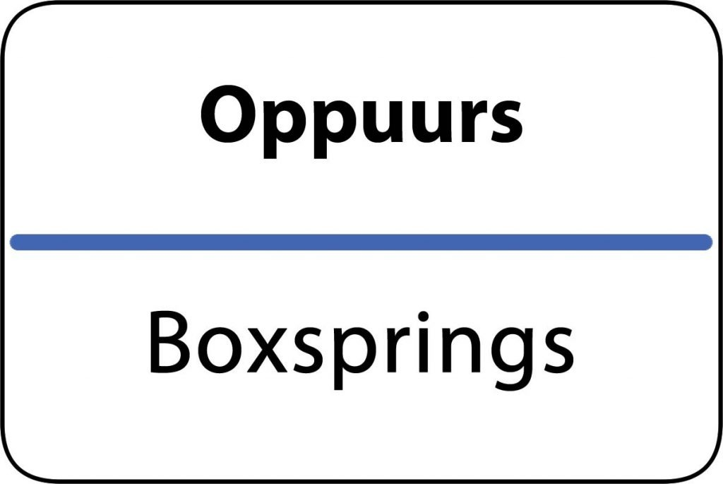 Boxsprings Oppuurs