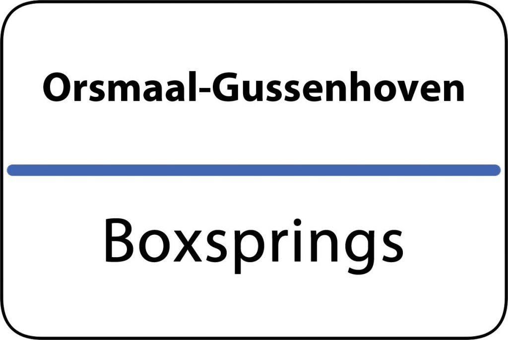 Boxsprings Orsmaal-Gussenhoven