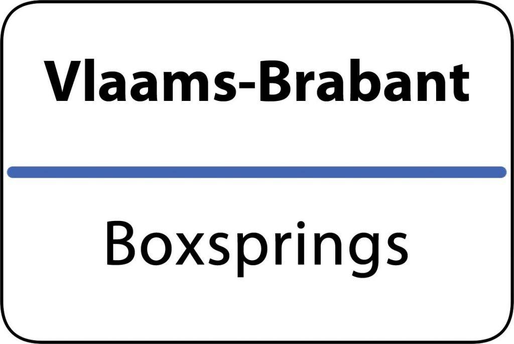 Boxsprings Vlaams-Brabant