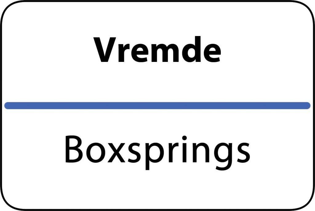 Boxsprings Vremde