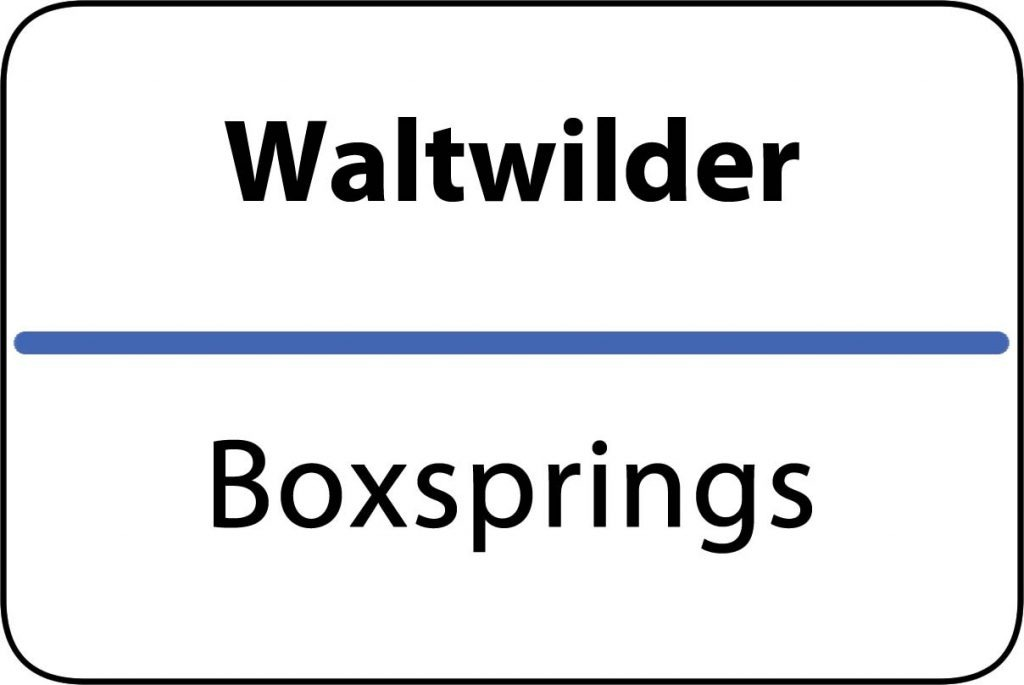 Boxsprings Waltwilder
