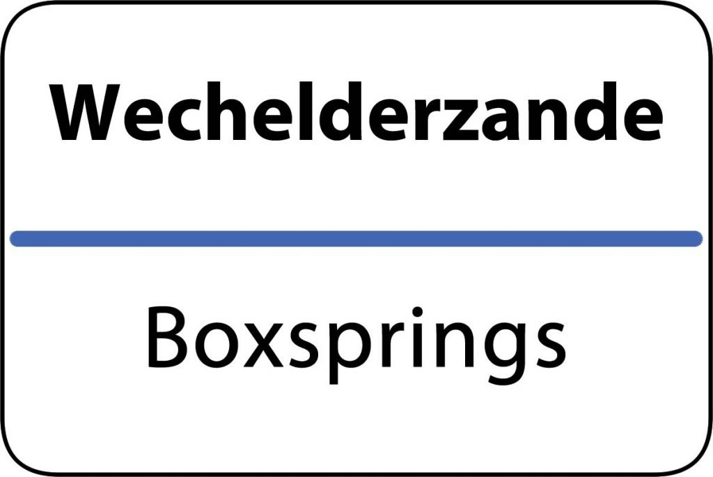 Boxsprings Wechelderzande