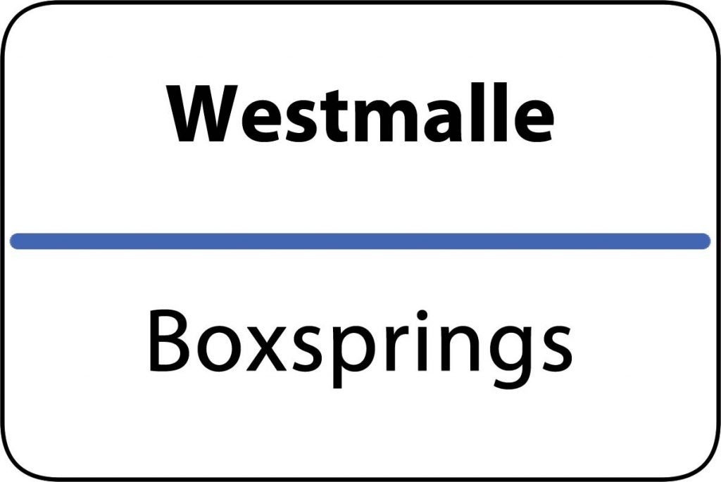 Boxsprings Westmalle