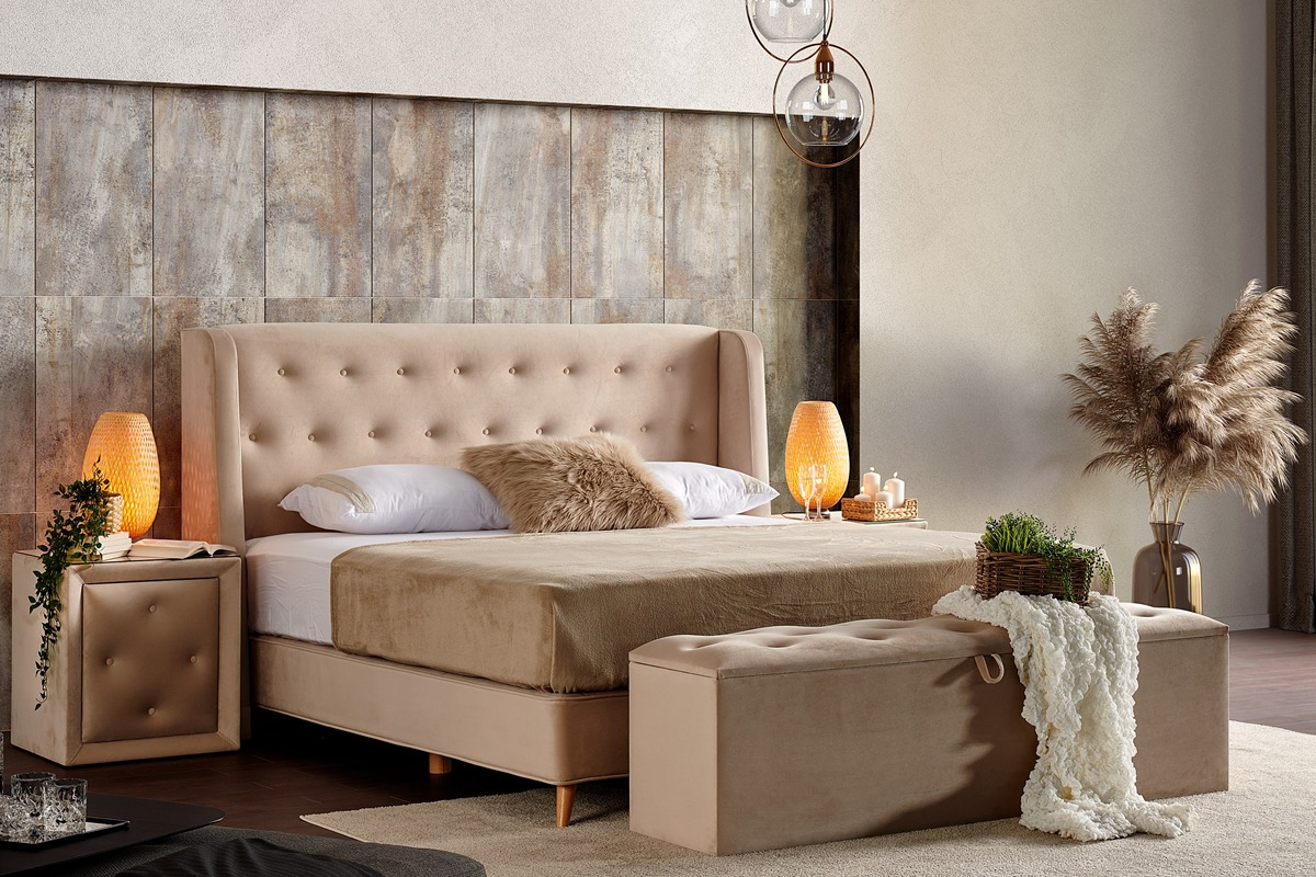 luxe boxspring bed